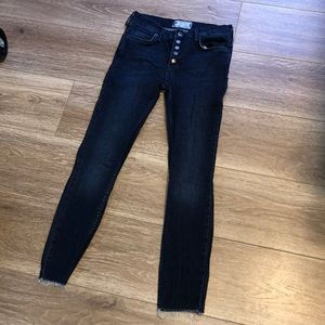 Free people Reagan button jeans